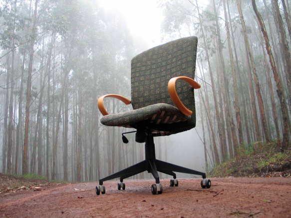 Versitile office Chair at Karkloof Falls
