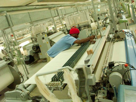 Textile workers in a South African Textile Factory