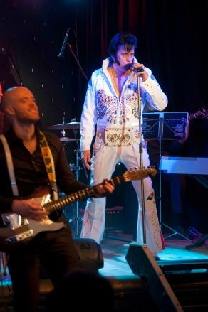 Doug Weich and his 8 piece band MSG Doug Weich Elvis Presley Wade Wight / Keyboards/ Male Backing Vocals Evan Cullum / Piano/ Male Backing VocalsÊ Glen Turrell/ Bass Guitar Andy Turrell / Drums David Knott / Lead Guitar Kirsty Madgin / Saxaphone Nicky Knott / FemaleÊ Vocals / Priscilla Presley SandiÊ Da Cunha / Female Vocals / Priscilla Presley 11-13 Aug 2017 Dbn 18-20 Aug 2017 Dbn 10 Sept 2017 PMB takes us on a journey through the different eraÕs of Elvis and Priscilla, as we pay tribute to one of the greatest entertainers of all times, ÒThe King Of Rock nÕ RollÓ, and also pay tribute to his ÒQueenÓ the one and only true love of his life, Priscilla Presley. It was a fairy tale love story that was filled with so much happiness but ended in so much heartache. A love and regret that was so strong, that no fame nor fortune could stop the downward spiral that would eventually lead to ElvisÕ self destruction.