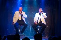 The Gee Jays - John Didlick, Gary McKenzie and Grant Bell OUR WAY BY The Gee Jays, on stage at the RHUMBELOW THEATRE Durban. FRIDAY 08 Sept 2017 Show starts 20.00SATURDAY  09 Sept 2017 Show starts 20.00SUNDAY    10 Sept 2017 Show starts 14.00SUNDAY    10 Sept 2017 Show starts 18.30 Also Runs in PMB SUN 27 Aug 2017 The talented trio, now enjoying their 32nd year together, take you on a trip down memory lane and back again with some of those long forgotten songs from such great artists like ANDY WILLIAMS, NAT KING COLE , BILL HALEY & THE COMMETS, FRANK SINATRA , DEAN MARTIN, ENGELBERT HUMPERDINK, LOUIS ARMSTRONG, FRANK IFIELD and more. The trip back brings you through the eras of , ELVIS PRESLEY, NEIL DIAMOND, THE BEATLES, BUDDY HOLLY, THE COMMODORES, JOHN LENNON, SIMON & GARFUNKEL and ROBBIE WILLIAMS to name but a few. Some of the numbers featured are: WONDERFUL WORLD, ROCK AROUND THE CLOCK, DRIFT AWAY, BRIDGE OVER TROUBLED WATERS, SGT. PEPPERS LONELY HEARTS CLUB BAND, THAT'LL BE THE DAY, SHA BOOM and, of course, MY WAY. All this, interwoven with the notorious Gee Jays own style of comic patter go to make up an evening's entertainment not to be forgotten. So come along and enjoy The Gee Jays doing it their way.