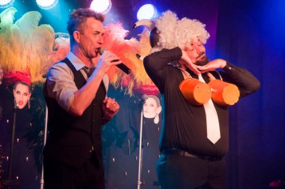"""RHUMBELOW THEATRE Umbilo, Durban Presents Tie A Knot In It - (Vegas Baby!) Rowan Bartlett, Darren King & Bryan Hiles  FRIDAY 06 OCT 2017 Show starts 20.00SATURDAY  07 OCT 2017 Show starts 20.00SUNDAY    08 OCT 2017 Show starts 14.00SUNDAY    08 OCT 2017 Show starts 18.30Venue opens 90 minutes before show for picnic dinner)        Tie A Knot In It (Vegas Baby!) is a fun original three-hander comedy-cabaret set in one of the lesser known venues in Las Vegas. Starring Rowan Bartlett (star of stage and screen) Darren King (star of his own bathroom) and Bryan Hiles (disa..star) three of Durban's most accomplished musical theatre performers, unite in a chaotic and exuberant romp through the casinos and wedding chapels of Las Vegas and the stars who have made them famous. Hop in your gas-guzzling Mustang and cruise along Route 66 to the Flamingo Lounge for sweet talk, slick moves and smooth vocals. You can expect a cocktail of one part Dean Martin, two parts Sinatra, a dash of Robbie Williams and a twist of Cher ..... served over crushed Celine Dion, shaken, not stirred. And remember... """"What happens in Vegas, stays in Vegas!"""" The production may include nudity (But only if you're lucky....) The ever-iconic Vegas is known for three things: fabulous over the top casinos; extraordinary live shows ... and kitsch quick-fix weddings – all in the middle of an inaccessible, barren, sleepy desert. Tie a Knot in It (Vegas Baby!) is a pastiche of anecdotes, humour, risqué banter ... and some brilliant era-defining songs. King, Bartlett and Hiles have performed together for more than a decade in Think Theatre's Othello and Hamlet (written by William Shakespeare); and have also performed in KickstArt's Wizard of Oz together. All three are multi-award winning performers who have been in the city's most acclaimed productions over the past two decades. This is the first time the three performers are worki"""