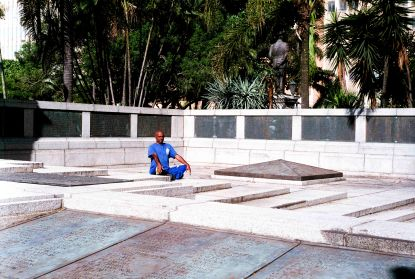 """Durban's People, Balan, general worker, """"I am the last Indian general worker at the Cenataph Gardens,"""" Durban, South Africa."""