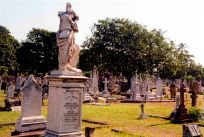 Durban's people. West Street Cemetery, James Lunn's grave stone, Durban, South Africa.
