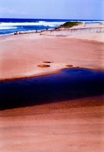 Beachscapes, whirlpools on Cuttings Beach.