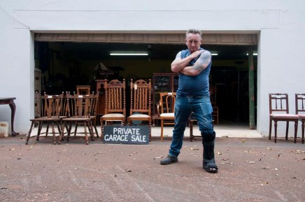 Mark Cook has sold his own old furnature out of a garage in Glenwood, Durban, South Africa for about 25 years.
