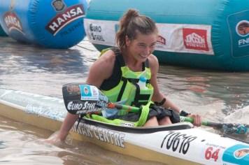Christie MacKenzie, winner of the FNB Duzi 2019 womans K1 race