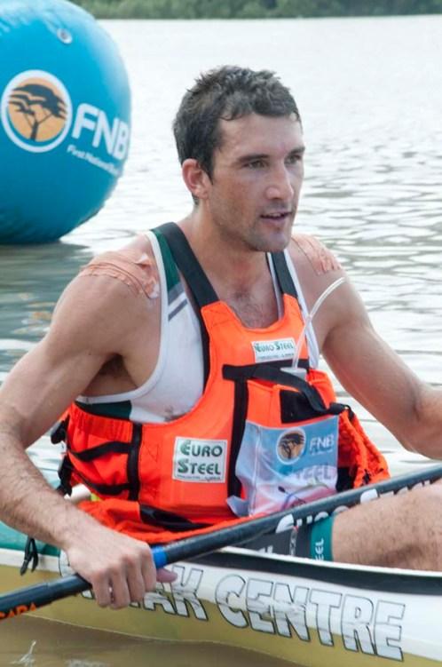 Andy Birkett winner of the FNB Duzi 2019 K1 mens race