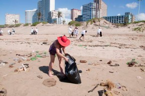 People across Durban celebrated 25 years of democratic freedom in South Africa with a walk on the beach front stopping for prayer, praise, declarations and an open air communion service on the sand. The walk was finished off with collecting litter off the beach.