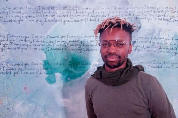Banele Khosa, opening of 'Looking For Love' at Durban Art Gallery, Durban, South Africa.