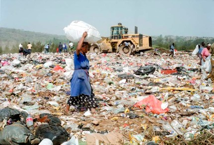 The plastic pickers know the value of all the types of plastic, metal, cardboard, wood and other material found on this landfill site.